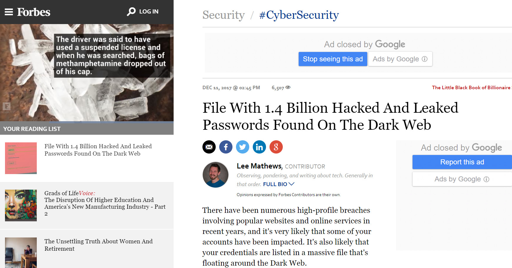 Biggest Data Breach