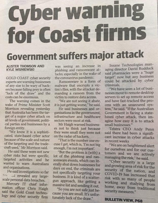 Gold Coast Bulletin Article 200620 (1)